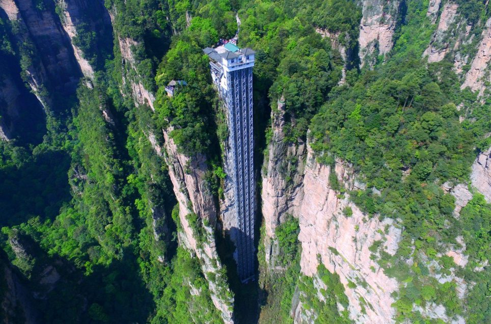Bailong Elevator - World's Tallest Outdoor Elevator