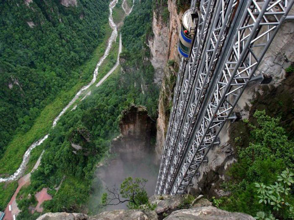 Bailong Elevator - World's Tallest Outdoor Lift