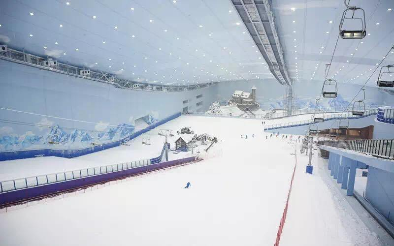 World's largest Indoor Ski Resort - Harbin Wanda Indoor Ski and Winter Sports Resort