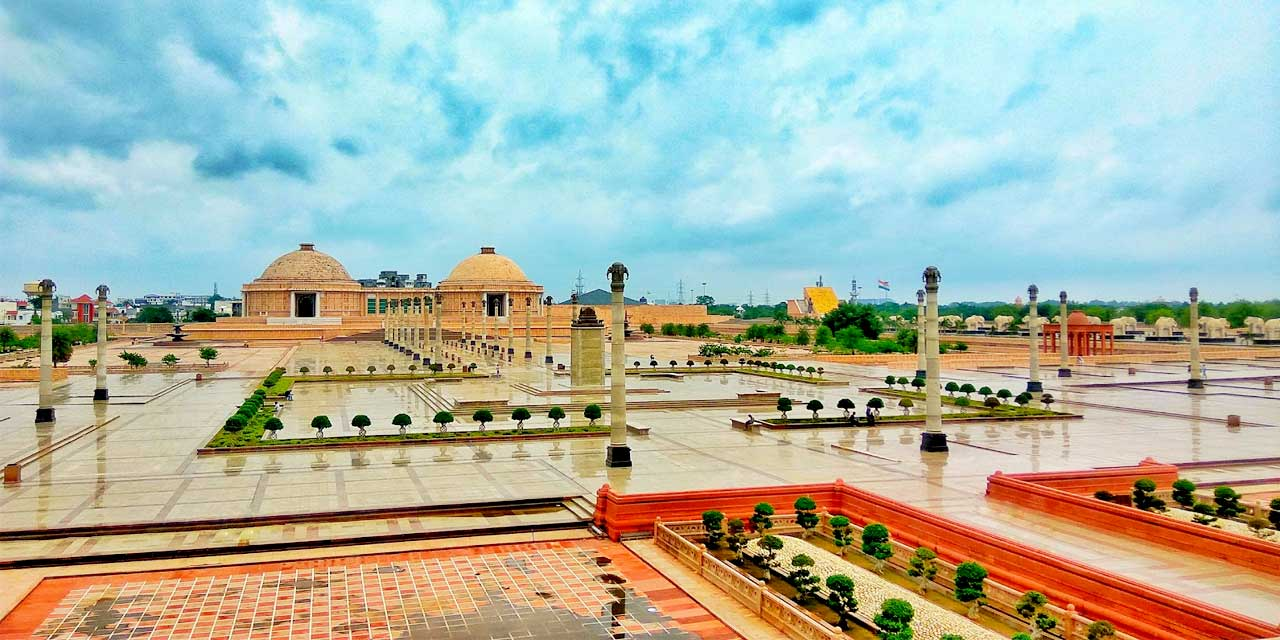 Be filled with wonder at the Ambedkar Park.