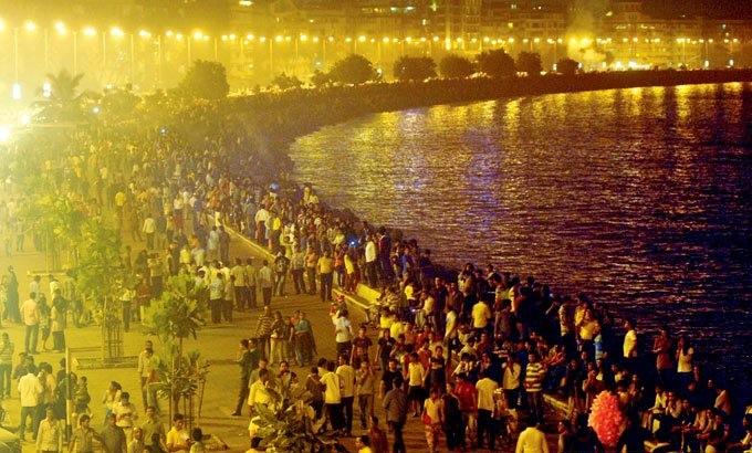 Marine Drive New Year, Mumbai