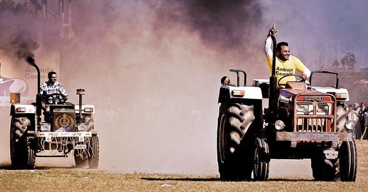 Tractor Race at Kila Raipur Sports Festival, Punjab