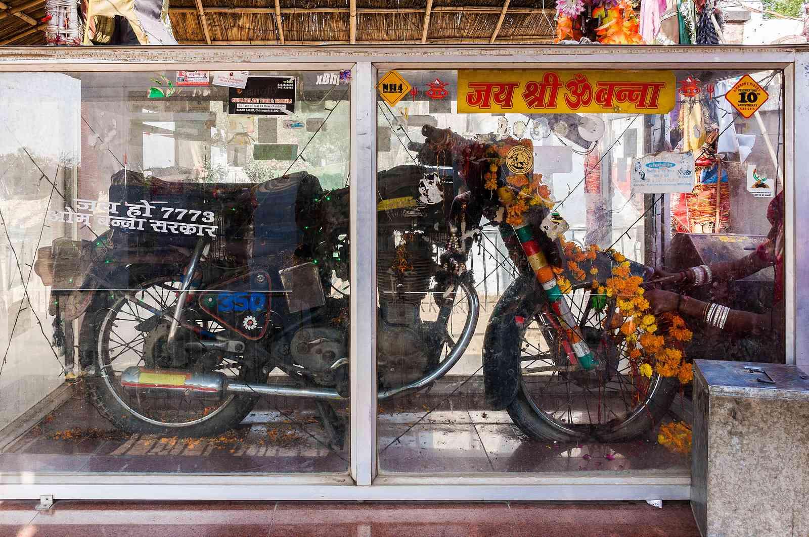 Bullet Baba's Temple Near Jodhpur Where People Worship 350 cc Bullet