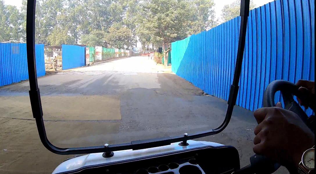 Electric Vehicle on Indian Side of Kartarpur Corridor