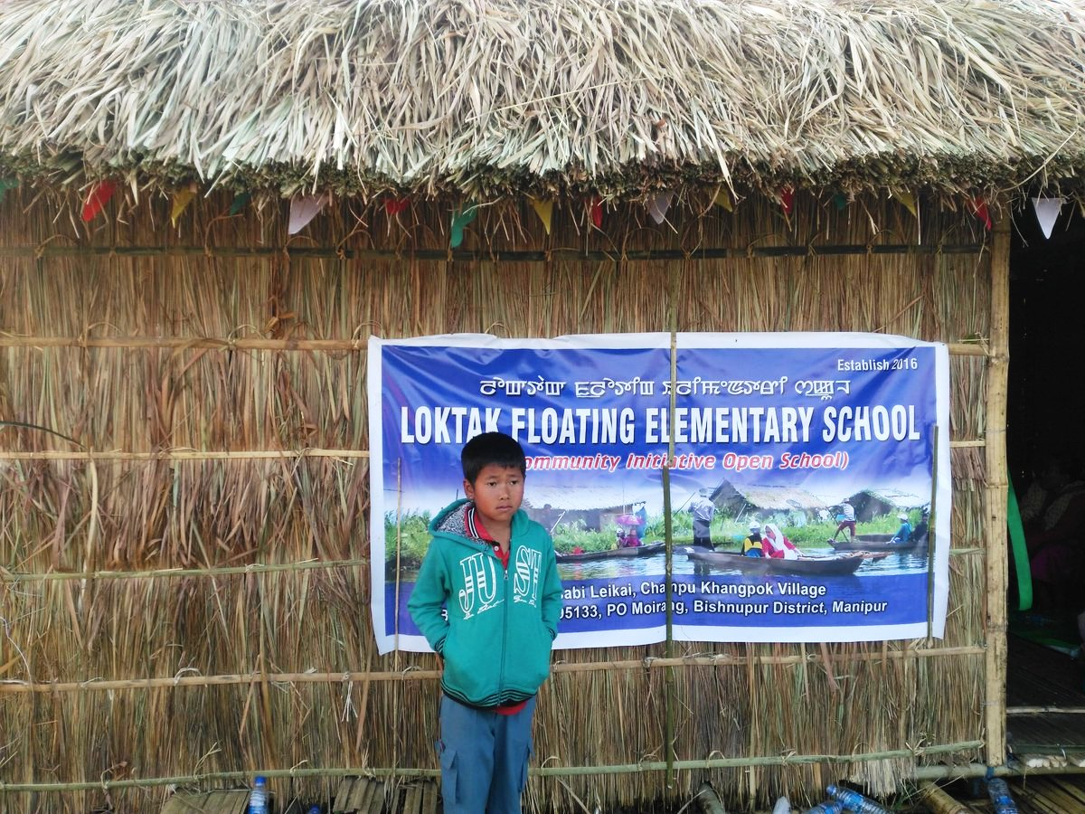 India's First Floating Elementary School on Manipur's Loktak Lake