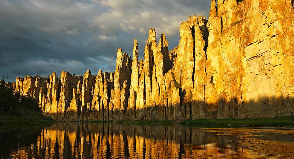 Lena Stone Pillars in Russia
