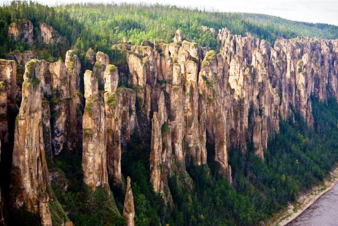 Lena Stone Pillars of Russia