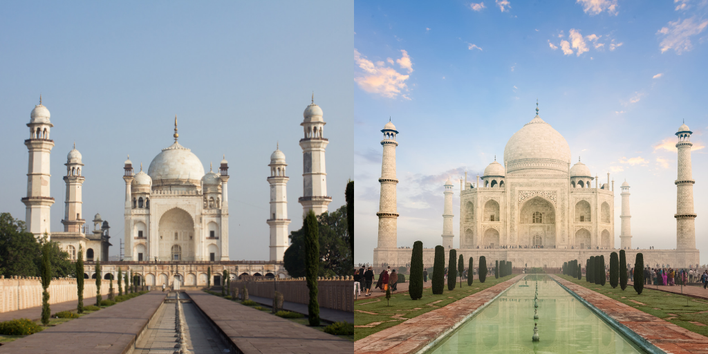 Difference between the Original structure and the Replica