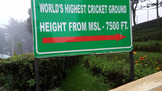 History of the World's highest cricket ground