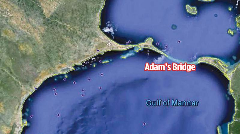 Rama Setu(Adam's Bridge) – Limestone Shoals connecting India & Sri Lanka