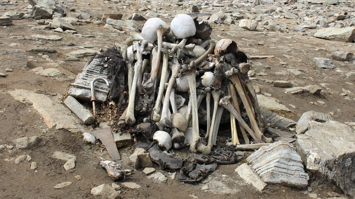 Skeletons near roopkund lake