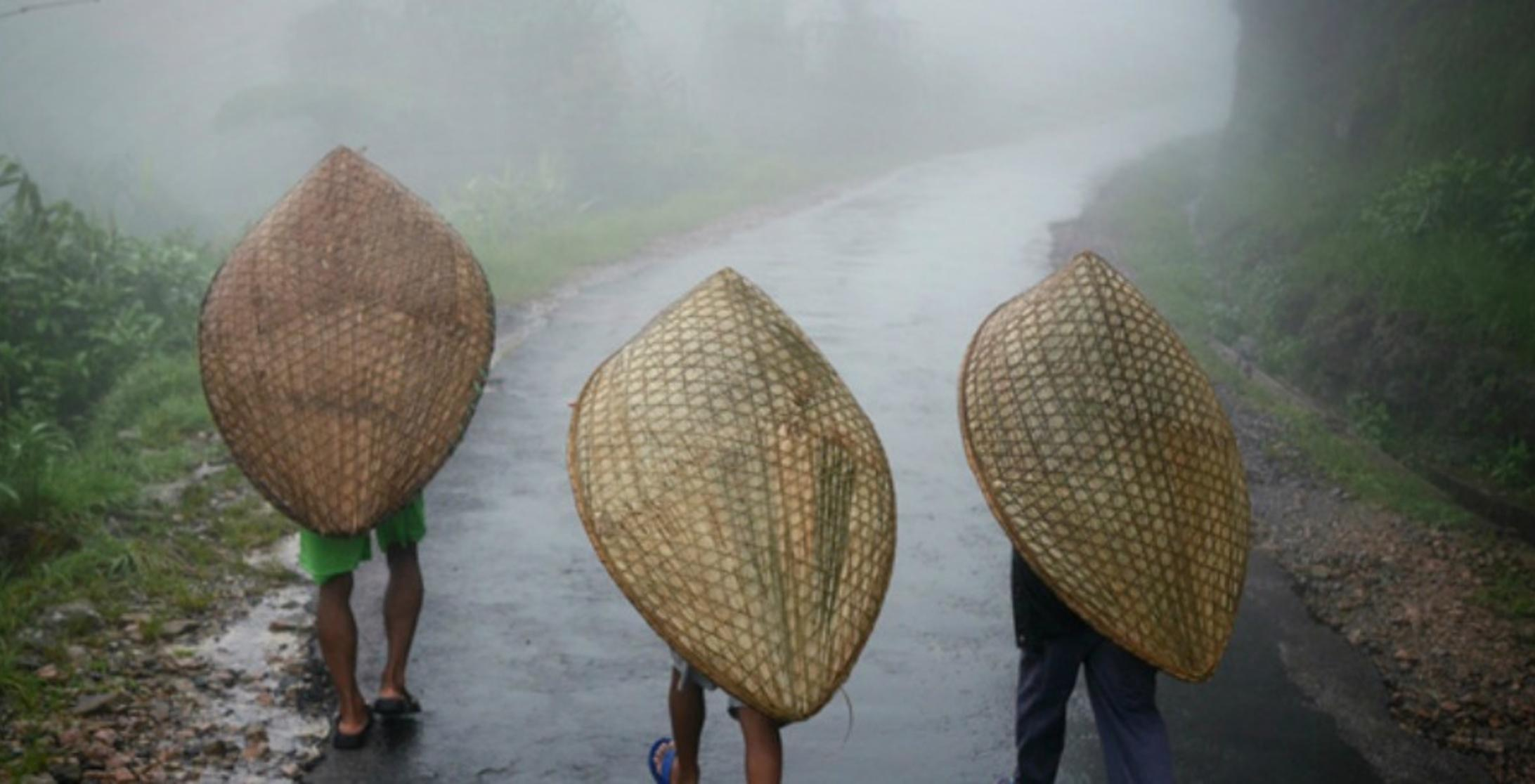 Why does Mawsynram receive the highest rainfall in the world
